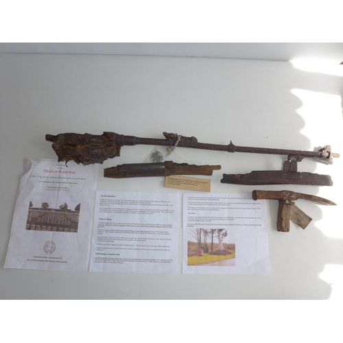 350 - A WORLD WAR I .303 CALIBRE RELIC RIFLE, LENGTH OF RIFLE 84cm  (PLEASE NOTE THE BULLETS HAVE BEEN DEA...