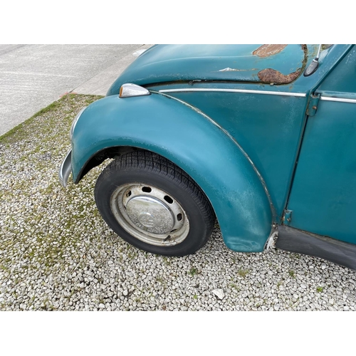 1001A - A 1967 VW BEETLE, 1500 CC, BELIEVED ONE OWNER FROM NEW, ON A V5, ENGINE TURNS OVER...