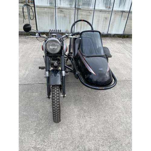 1020 - A 1956 PANTHER 100 SPRINGER 600 CC WITH A SQUIRE SIDECAR. FOUR OWNERS FROM NEW. WITH A V 5 AND ORIGI...