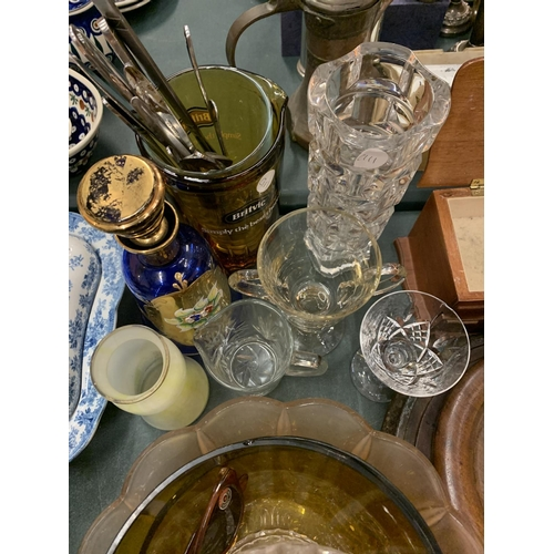 101 - A ASSORTMENT OF GLASSWARE ETC...