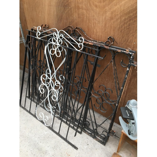 1017 - TWO PAIRS OF ORNATE WROUGHT IRON DRIVEWAY GATES...