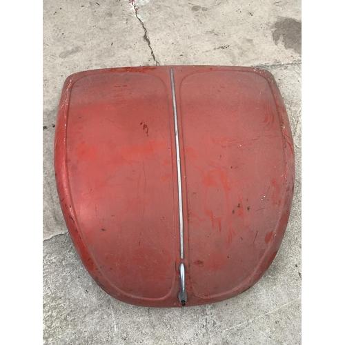 1053 - A VW BEETLE BONNET (RED)...