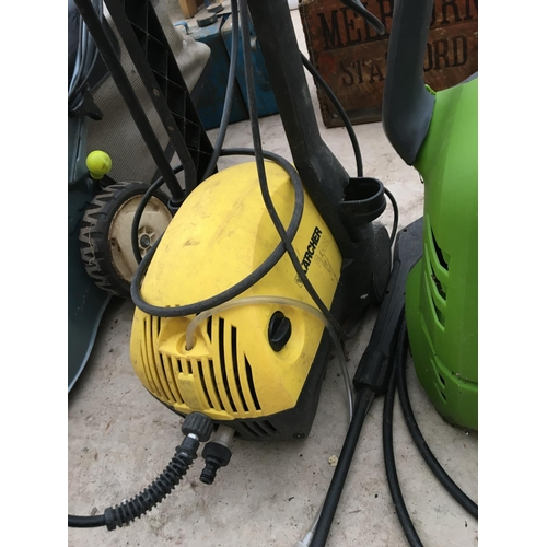 1081 - TWO PRESSURE WASHERS TO INCLUDE A KARCHER AND A PERFORMANCE...