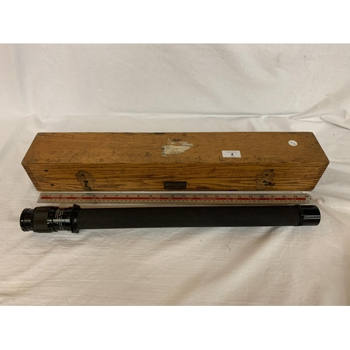 4 - A WW2  1942 CASED US NAVY BU SHIPS TELESCOPE...