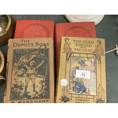 73 - FOUR VINTAGE HARDBACK CHILDREN'S BOOKS INCLUDING 'THE GOLD THREAD AND