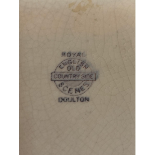 715 - A ROYAL DOULTON SERIES WARE FLAT BOWL...