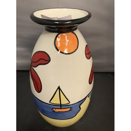 716 - A SIGNED HAND PAINTED LORNA BAILEY VASE TROPICANA...