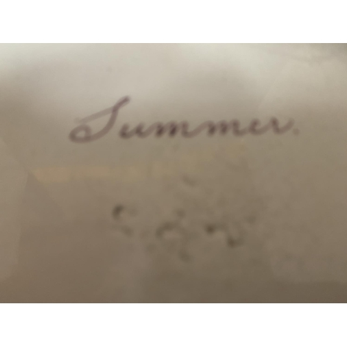 757 - A PLATE 'SUMMER'...