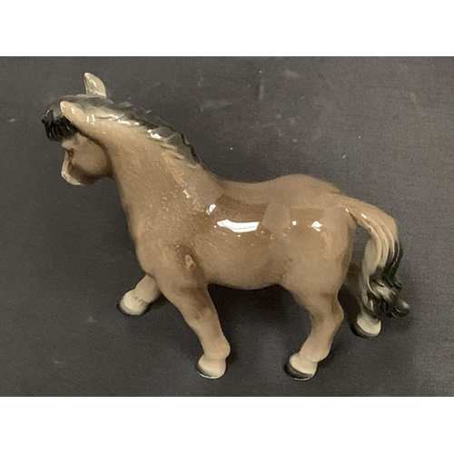 760 - AN UNUSUAL GOEBEL WEST GERMANY PORCELAIN BROWN GLOSS PONY HORSE MODEL 10.5 CM IN PERFECT CONDITION...