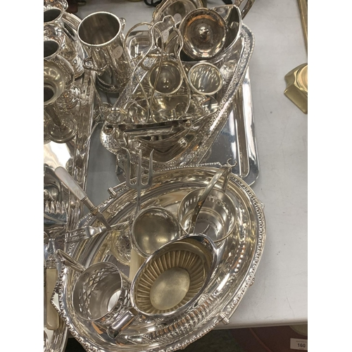 117 - A LARGE GROUP OF SILVER PLATE ETC...