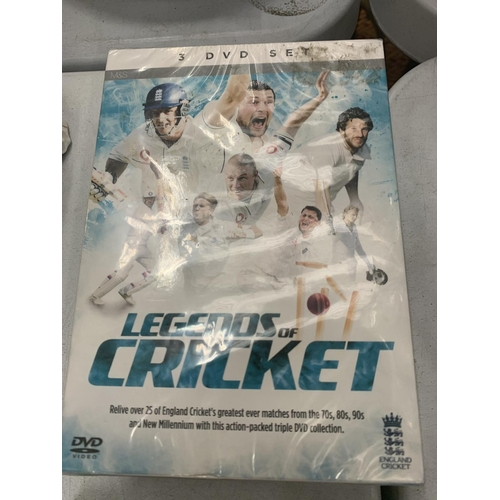 179 - VARIOUS DVDS AND VIDEOS FEATURING THE BEST OF THE ENGLAND CRICKET TEAM FROM THE 1970S TO 2000 AND MA...