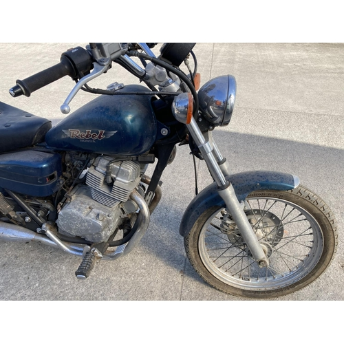 1070 - A HONDA REBEL MOTORCYCLE (KEY AND LOGBOOK TO FOLLOW)...