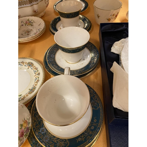 483 - A LARGE QUANTITY OF CERAMICS TO INCLUDE COALPORT, ROYAL DOULTON AND MINTON...