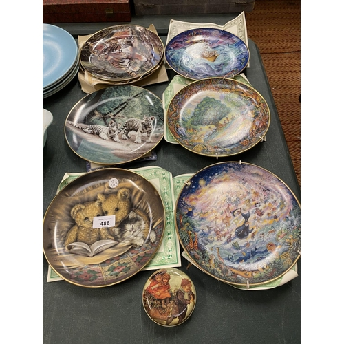 488 - VARIOUS WALL PLATES TO INCLUDE EXAMPLES BY BILL BELL...