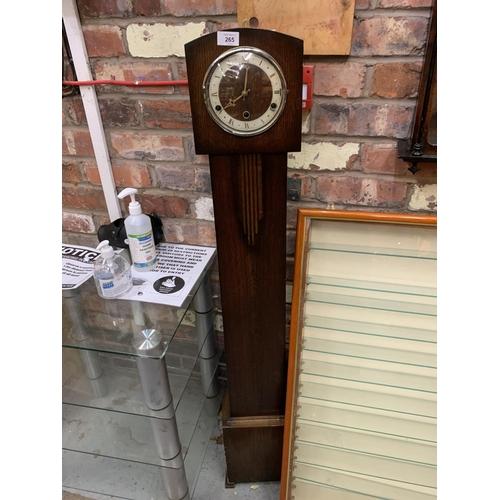 265 - AN ART DECO STYLE GRANDMOTHER CLOCK...