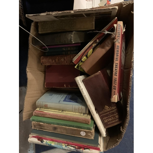 285 - AN ASSORTMENT OF VINTAGE BOOKS INCLUDING THE BREWER'S DICTIONARY OF PHRASE AND FABLE AND THE INTELLI...