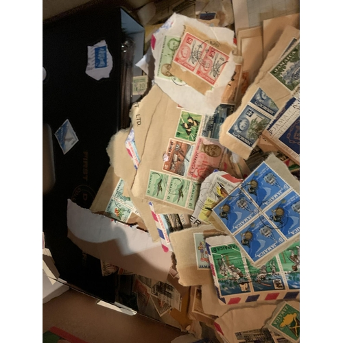 866 - A LARGE QUANTITY OF VARIOUS STAMPS...