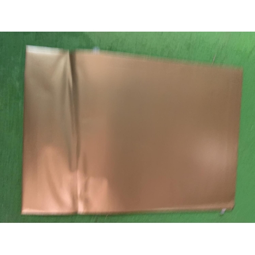 873 - FIVE BOXES OF WALLET PEEL AND SEAL C5 METALLIC GOLD ENVELOPES...