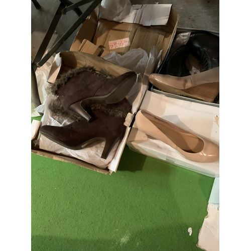 874 - VARIOUS PAIRS OF NEW AND BOXED LADIES AND GENTS SHOES...