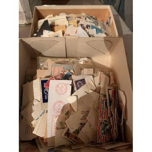875 - TWO BOXES OF VARIOUS STAMPS...