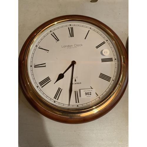 902 - A LONDON CLOCK COMPANY RADIO CONTROLLED SHIPS PORTHOLE CLOCK...