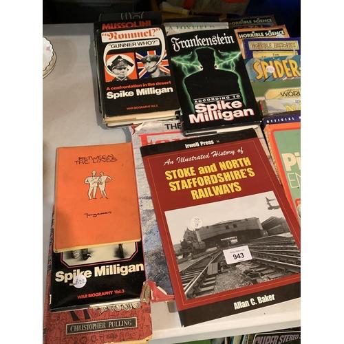 943 - VARIOUS BOOKS OF LOCAL INTEREST ETC...