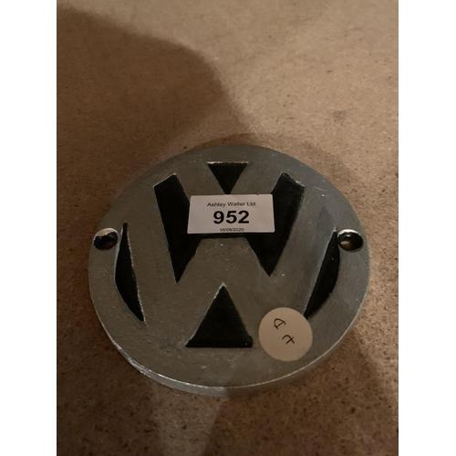952 - A CAST VW SIGN...