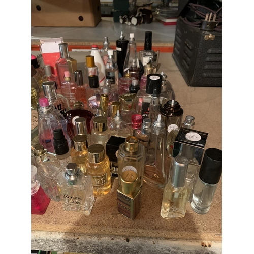 958 - A LARGE COLLECTION OF VARIOUS PERFUMES AND BOTTLES...
