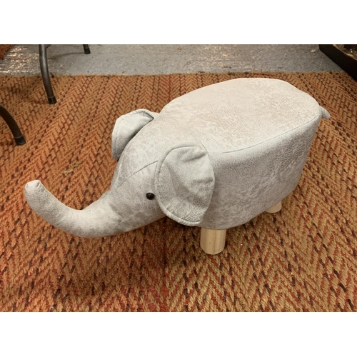 211 - A FAUX SUEDE ELEPHANT FOOT STOOL