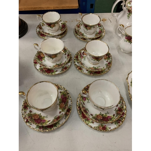 5 - A ROYAL ALBERT 'OLD COUNTRY ROSES' TEA SERVICE TO INCLUDE SIX TRIOS
