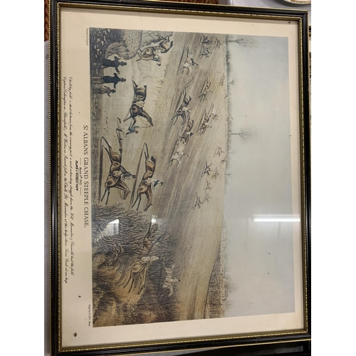 165 - AN ASSORTMENT OF VARIOUS VINTAGE ST ALBANS GRAND STEEPLE CHASE PRINTS...
