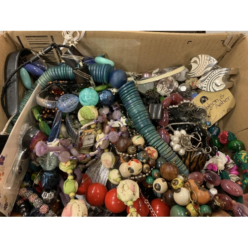 170 - A LARGE QUANTITY OF COSTUME JEWELLERY...