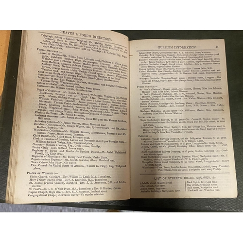 269 - A KEATES AND FORDS POTTERIES AND NEWCASTLE DIRECTORY 1867...