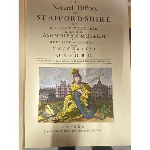 281 - 1973 REPRINT OF 'THE NATURAL HISTORY OF STAFFORDSHIRE, BY ROBERT PLOT(FIRST PUBLISHED IN 1686)...