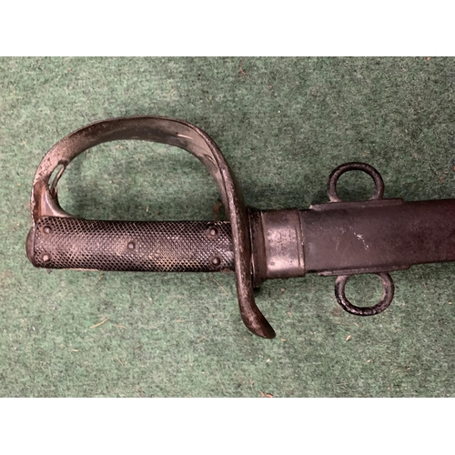 24 - A CAVALRY SWORD AND SCABBARD...