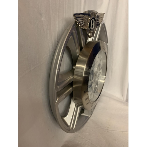 1 - A DEALERS WALL CLOCK MOUNTED ON AN ORIGINAL  22