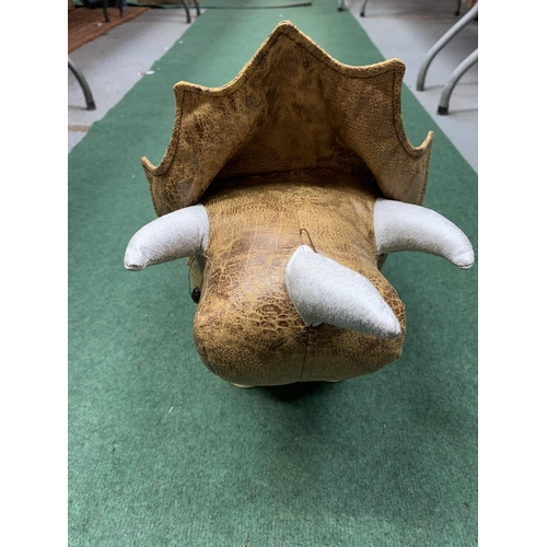 39 - A SMALL T-REX CHILD'S FOOTSTOOL