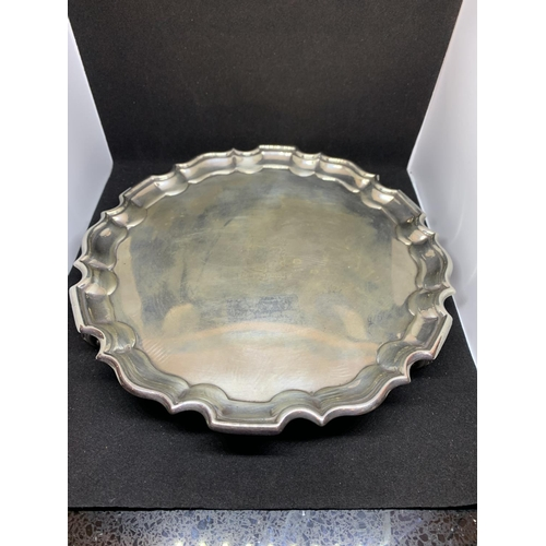 10A - A SILVER SALVER HALLMARKED LONDON 1910