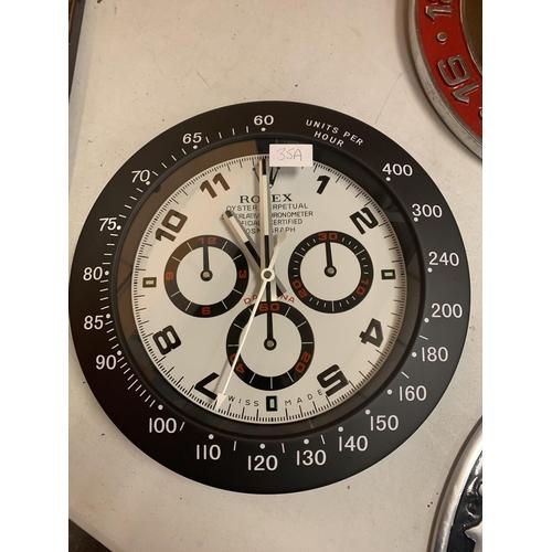 35A - A DEALERS WALL CLOCK