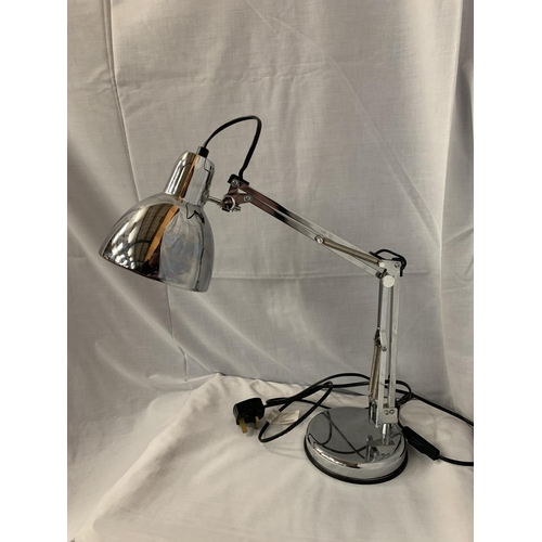 5 - A CHROME ANGLE POISE DESK LAMP