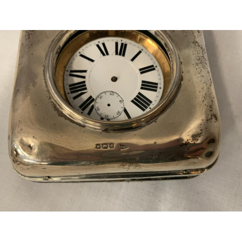 33 - A GOLIATH POCKET WATCH, NO HANDS BUT MOVEMENT WORKING AT TIME OF CATALOGING IN A FITTED WALKER AND H...
