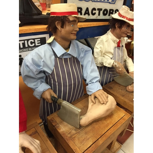 11 - A 1970'S BUTCHER CHARACTER AUTOMATION PUPPET FIGURE
