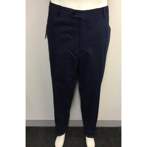 19 - BRIONI - a pair of gents navy blue suit trousers Size EU 56...