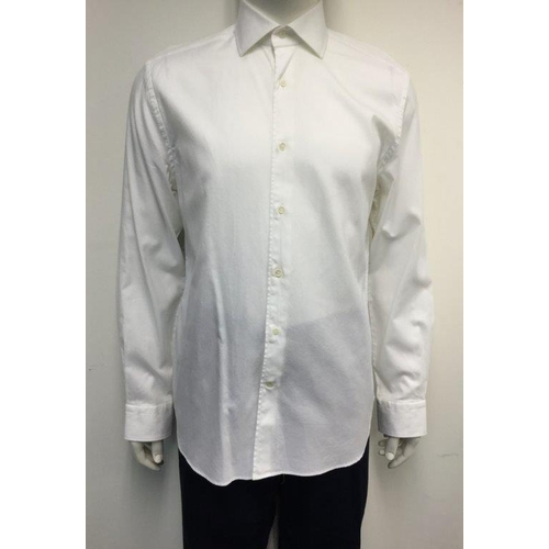 22 - CORNELIANI - a gents white shirt, size large...