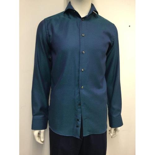 24 - ETON - a gents blue/green shirt, size small...