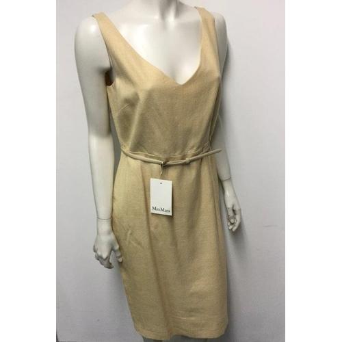 43 - MAXMARA - a ladies cream/yellow dress, size 12...