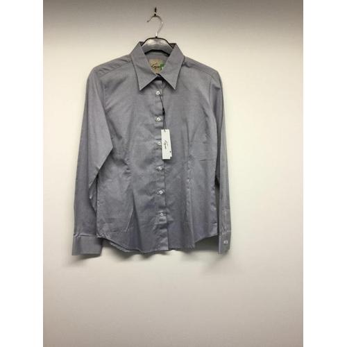 47 - KEZCO - a ladies navy blue shirt, size 10...