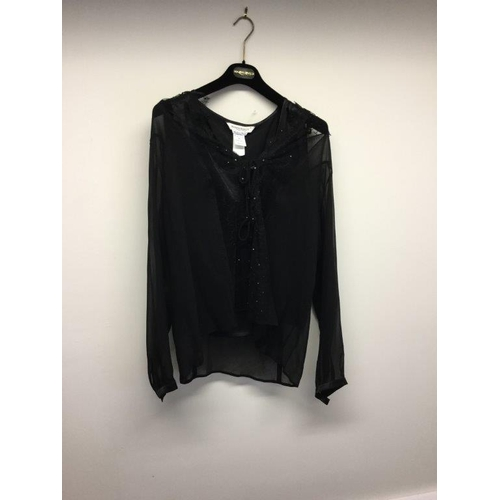 54 - MARINA RINALM - a ladies black top, size 16...