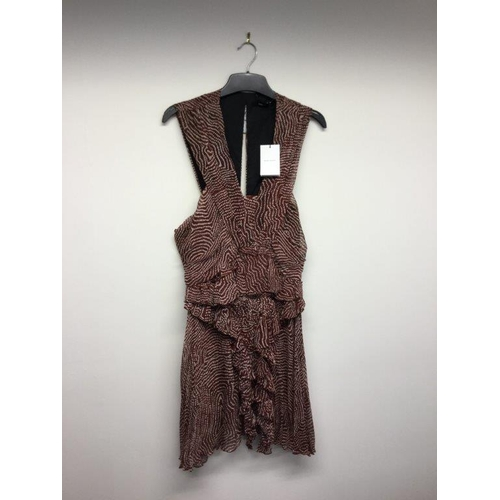 57 - ISABEL MARANT  - a ladies red floaty dress, size 8...
