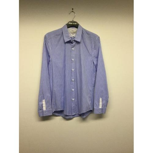 60 - SOUL BY DENNIK LI - a ladies blue checked shirt, size small...